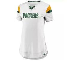 New Womens Nfl Fanatics Green Bay Packers Athena Top Size L Football - $34.77