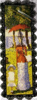 Fine Art Bookmark Cross Stitch Kit Sunday Afternoon #2