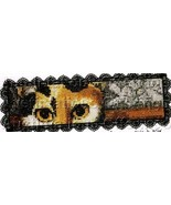Fine Art Bookmark Cross Stitch Kit Folk Art Cats - $19.00