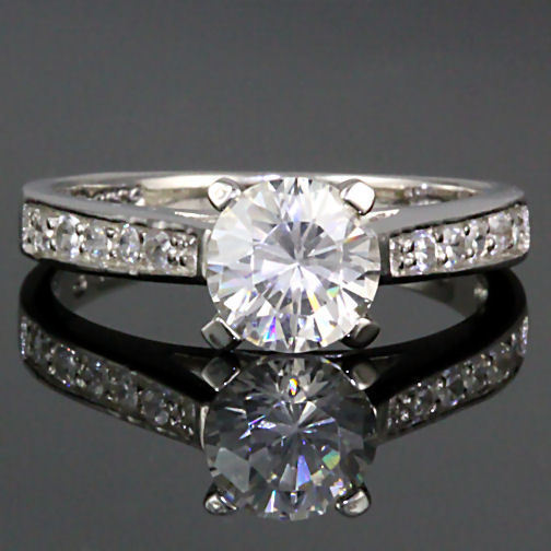 1.55ct Russian Ice CZ Bridal Engagement Band Ring s 7