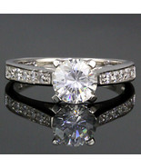 1.55ct Russian Ice CZ Bridal Engagement Band Ring s 7 - $34.99