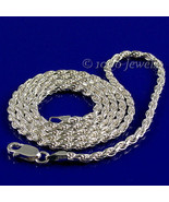 1.5mm Italian Triple Rope Chain 925 Sterling Silver, 16 inches - $22.00