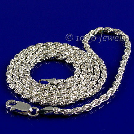 1.5mm Italian Triple Rope Chain 925 Sterling Silver, 18 inches