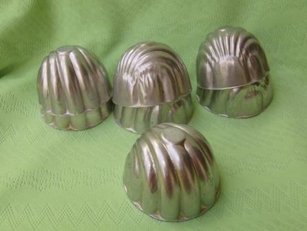 Mini Individual Shell Jello Molds Mid Century Aluminum