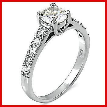 1.6ct Ice on Fire CZ Bridal Engagement Band Ring sz 6