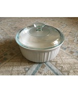 1980s Corning Ware French White 2.5 Qt Round Casserole w/Glass Lid - $20.00