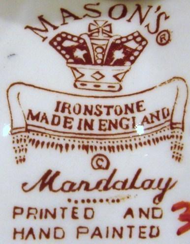 Mason's Ironstone Cobalt & Iron Red Mandalay Single Candlest