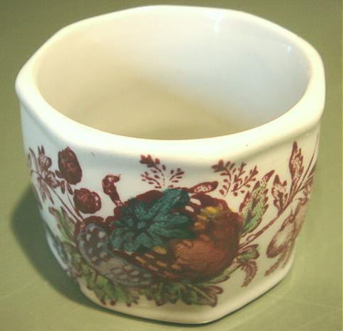 Vintage Mason's FRUIT BASKET Porcelain Napkin Ring