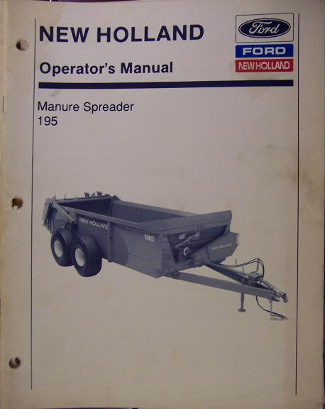 New Holland 195 Manure Spreader Operator's Manual