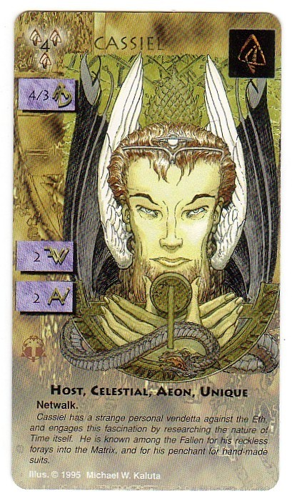 Heresy Kingdom Come Card Cassiel Trading Card Michael Kaluta Art - NEW