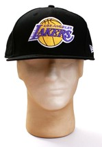 New Era 59Fifty Hardwood Classics Los Angeles Lakers Black Fitted Hat Ca... - $26.24