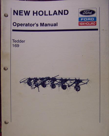 New Holland 169 Hay Tedder Operator's Manual