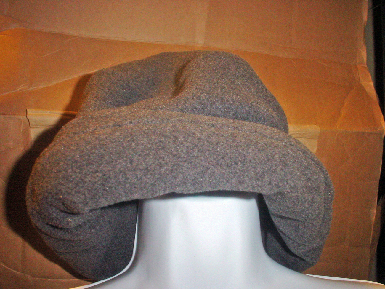 Land's End Fleece Hat Dark Gray SP