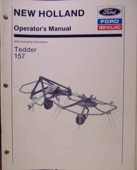 New Holland 157 Hay Tedder Operator's Manual