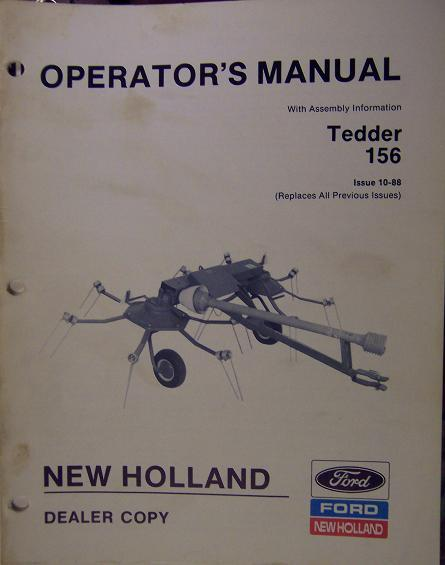 New Holland 156 Hay Tedder Operator's Manual