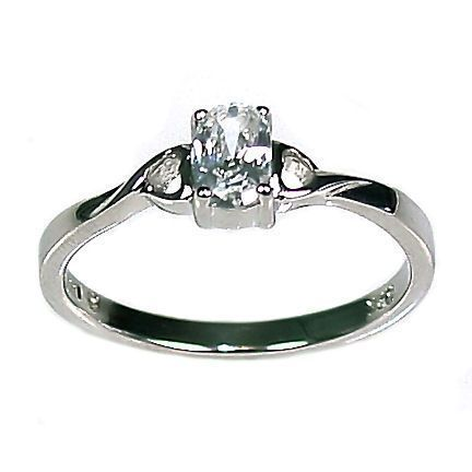 2 Hearts Russian Ice CZ Promise Friendship Ring sz 7