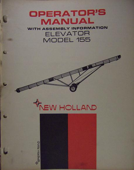 New Holland 155 Elevator Operator's Manual