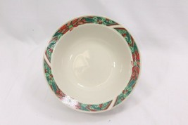 """Gibson Poinsettia Holly Ribbons Soup Bowls 7"""" Set of 8 - $41.15"""