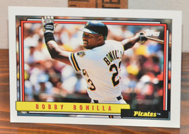 New Mint Topps trading card Baseball card 1992 pirates 160 Bobby Bonilla - $1.48