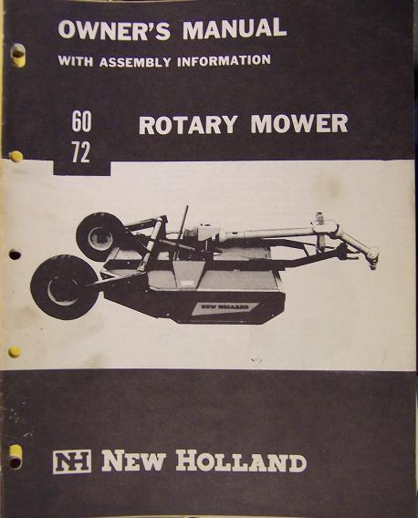 New Holland 60, 72 Rotary Mowers Operator's Manual