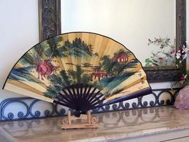 Colorful Hills Table Display Fans - $18.95