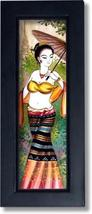 Lady with a Yellow Sash Thai Framed Paintings - $34.95