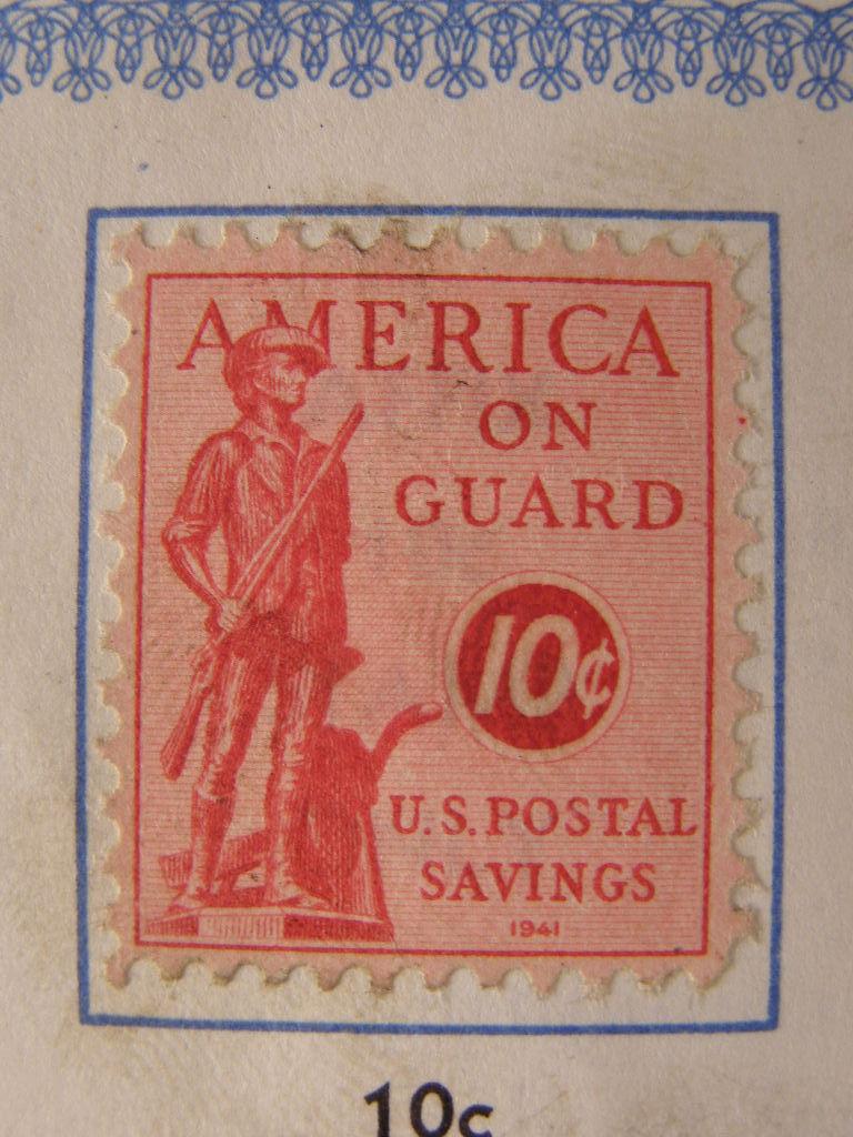 World War II - Defense Postal Savings Stamps Book (SKU#1667)