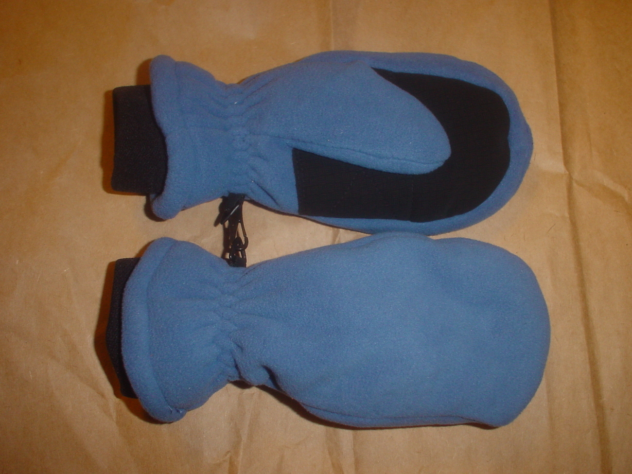 Land's End Fleece Mittens Medium Dark Blue