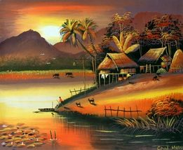 Mystery of the East Acrylic Landscape Paintings - $39.95
