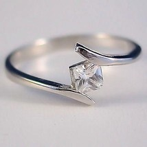 .37ct Princess Cut Russian Ice CZ Promise Band Ring s 5 - $21.00