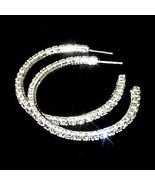 45mm Swarovski Crystal Rhinestone Hoop Post Earrings - $15.00