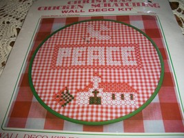 Christmas Chicken Scratching Wall Deco Kit WKIT037~Peace - $15.00