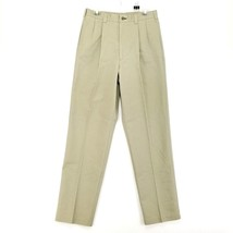 Vintage Tommy Hilfiger Crest Logo Mens Khaki Pants size 32x34 - $21.22