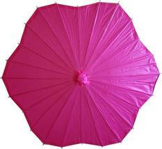 Scalloped Fuscia Parasol Paper Umbrellas - $21.95