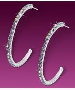 52mm AB Swarovski Crystal Rhinestone Hoop Post Earrings - $16.00