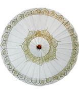 White Traditional Thai Umbrella Fashion Umbrellas - $28.95