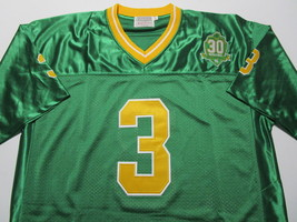 JOE MONTANA / AUTOGRAPHED NOTRE DAME GREEN & GOLD THROWBACK JERSEY / PLAYER HOLO image 2