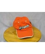Bacardi Rum Bat Device Baseball Hat Orange White Embroidery Trim Adjusta... - $17.99