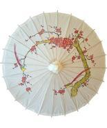 Cherry Blossoms on White Paper Umbrellas - $21.95