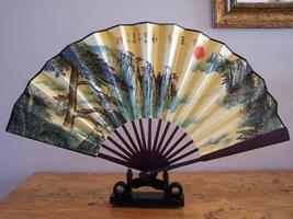 Lone tree Neath the Moon Table Display Fans - $18.95