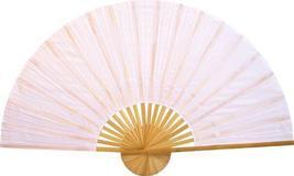 """60"""" width Solid White Unpainted Fan Oriental Wall Fans - $38.95"""