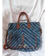 Hayden Harnett Langley Tote Chevron Cognac Leather Handbag - $145.00