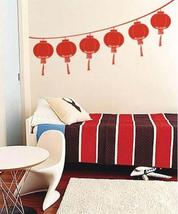 "6 lanterns, 8"" x 15"" each Chinese Festival Lantern Wall Decal - $68.95"