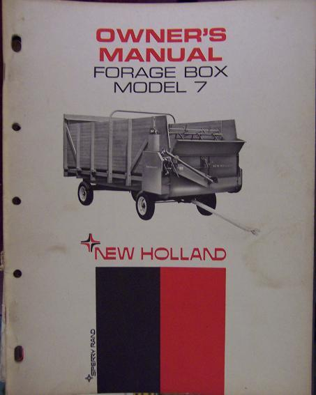 New Holland 7 Forage Box Operator's Manual - 1967