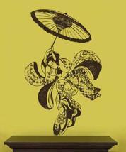 """72"""" x 44"""" Geisha Dancer Wall Decal Asian Art Wall Stickers - $73.95"""