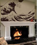 """84"""" x 134"""" Great Wave Hokusai Wall Decal Asian Art Wall Stickers - $169.95"""