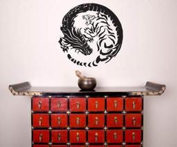 "40"" x 40"" Tiger Dragon Yin Yang Wall Decal Asian Art Wall Stickers - $68.95"