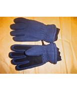 Land's End Fleece Gloves Medium Dark Blue - $17.99