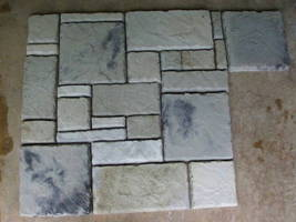 6 CASTLE STONE MOLDS + SUPPLIES TO CRAFT 100s OF 12x12x1.5 PATIO PAVERS & TILES image 4
