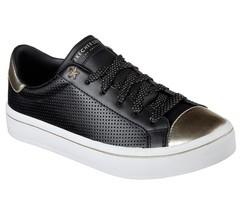 Skechers Hi-Lites Magnetoes Black Leather Gold Metallic Sneakers Wms 6.5... - $59.99